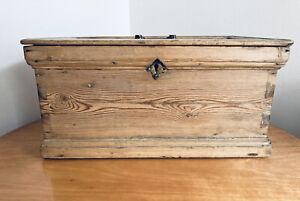 Antique Victorian Pine Deed Box