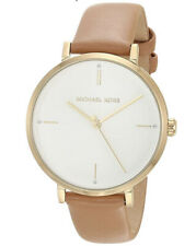 NWT Michael Kors Ladies Gold -Tone Light Brown Leather Watch MK7099 $150