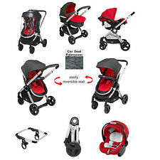 CHICCO RED WAVE SPECIAL EDITION URBAN TRAVEL SYSTEM PUSHCHAIR BABY CAR SEAT