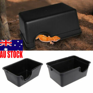 Reptile Hide Box Den Spawning Plastic Cave S/L for Tortoise Snake Lizard Pet AU