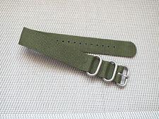 Ballistic Nylon Single Pass Divers watch strap 20mm Jungle Green