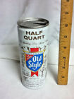 """Old style heileman's pure genuine half quart aluminum beer can 16 oz. 6.5"""" AY1"""