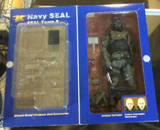 """Elite Force Navy Seal incomplete 12"""" Action Figure Shark Seal Team 8 opened"""