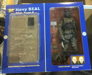 "Elite Force Navy Seal incomplete 12"" Action Figure Shark Seal Team 8 opened"