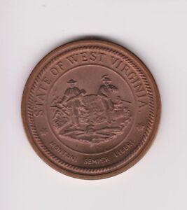 1863-1963 West Virginia State Centennial 100 Years BU Bronze Commemorative Medal