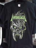 "Metallica  ""Green logo & skull"" official t-shirt  in size Small"