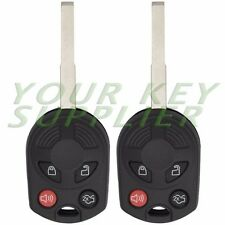 2 New Uncut 4 Button Remote Head Key Fob 80 Bit High Security Laser Key