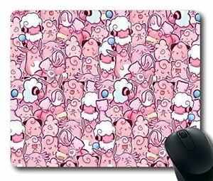 Astounding Cute Kawaii Pink Mouse Pad Oblong Comfort Gaming Mouse