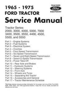 Ford 2000 3000 4000 5000 7000 3400 3500 3550 4400 4500 5500 5550 Workshop Manual