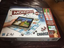 MONOPOLY ZAPPED EDITION BOARD GAME -WORKS WITH IPAD /IPHONE/IPOD TOUCH