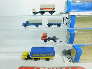 BO880-0,5 #4x Roco H0 / 1:87 Truck : 1524/1538 Magirus + 1519 Steyr + 1530 MB,VG