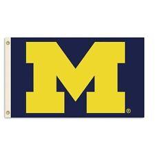 "Michigan Wolverines Premium 3'x5' Flag Blue Background Yellow ""M"" **Brand New**"