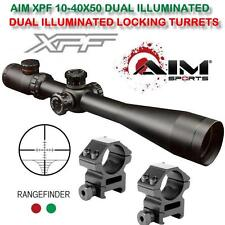 AIM XPF 10-40X50 DUAL ILLUMINATED SIDE FOCUS-LOCKING TURRETS LONG ACCURATE SCOPE