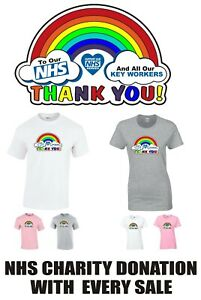 NHS Heroes Key Workers Thank You Rainbow T-shirt - Men/Womens in 3 colours