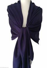 Navy Pashmina Dark Blue Wrap Ladies Shawl Womens Large Scarf Wedding Prom New