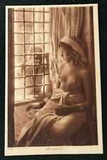 postcard Africa Nude woman Naked young girl Jeune Amour Unused Le curieus