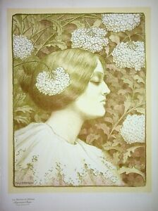 Paul Berthon: Profile Of Woman - Lithography Original, Signed, 1900