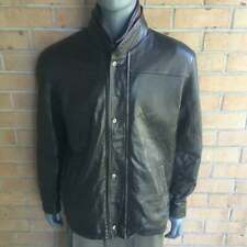 New listing Men's Remy Lambskin Leather Bomber Jacket Coat 44 Large retail $1125
