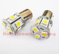 COPPIA LAMPADE LAMPADINE BA15S 9 LED P21 5050 SMD 12V LUCE BIANCA