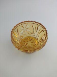 Carnival Glass Bowl. Vintage Orange Glass Bowl. Vintage Bon bon dish