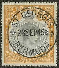 More details for bermuda sg120a kgvi 12s6d high value fine used son cds cat £55 uk p&p free £1 ww