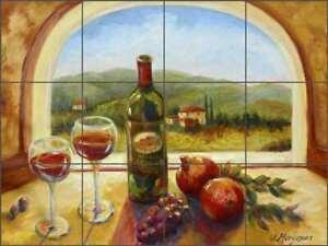 Tuscan Glass Tile Mural Joanne Morris Margosian Kitchen Shower Backsplash JM107