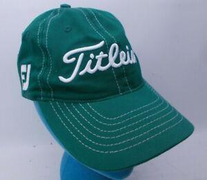 Titleist Pro V1 FJ Tour Hat Green Strapback Adjustable #1 Titleist on Back