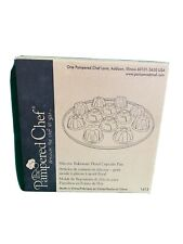 Pampered Chef Silicone Bakeware Floral Cupcake Pan #1613 NEW IN BOX - 3