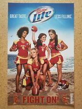 "Miller Lite Usc ""Fight On"" Cheerleader Girls poster Nos"