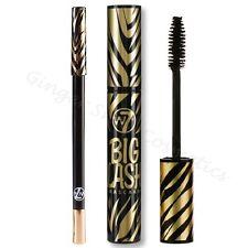 W7 Big Lash Mascara & Kohl Eyeliner Eye Liner Pencil Duo Set Kit Blackest Black