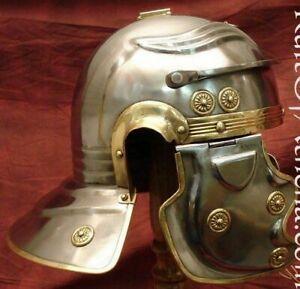 SCA LARP Roman Centurion Helmet W/ Plume Medieval Knight Crusader Armor