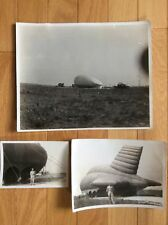 Lot of 3 Original Photographs of U.S. Barrage Balloons From 1941 * WWII*Aviation