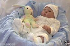 """Reborn Doll Kits Soft Vinyl Head 3/4 Limbs For Making 20-22"""" Newborn Baby Dolls"""