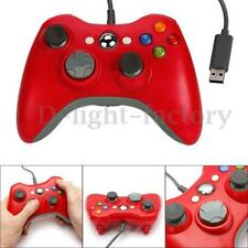 ROUGE Filaire USB Jeux Pad Manette Pr MICROSOFT Xbox 360&Slim PC Windows 7 NEUF