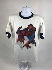 Rare VTG 90's Spider-Man Short Sleeve Ringer T-Shirt Size Large
