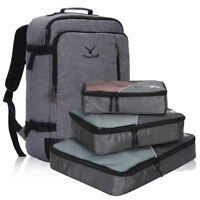 Carry-On Weekender Backpack Duffel Luggage Overnight Bags w/ 3pcs Packing Cubes