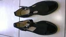 New pair of superb black leather smart formal school summer shoes by Office UK6
