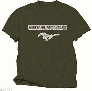 NEW GREEN FORD MUSTANG 50th ANNIVERSARY OR 50 YEARS CHOICE OF L XL OR XXL SHIRT!