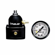 FUELAB 51501 EFI Fuel Pressure Regulator + 120PSI Fuel Pressure Gauge FPR -10AN