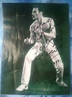 Freddie Mercury Queen AUTOGRAFO ORIGINALE RARO Original SIGNED Photo RARE Copia