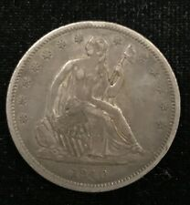 1840 XF Small Letters Reverse Seated Liberty Half Dollar