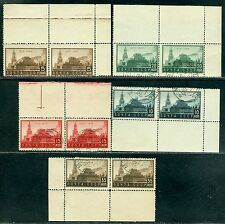 1934 Lenin Mausoleum,Kremlin,Spasskaya,Russia,467,pair,Sheet margins/corners,VFU