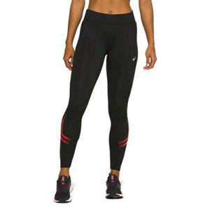 Asics Womens Silver Icon Running Tights Bottoms Pants Trousers Black Sports