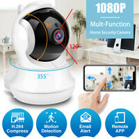 1080P Wireless WIFI Camera Smart Home Security Indoor PTZ Pan Motion CCTV System