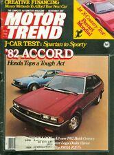 1981 Motor Trend Magazine: 1982 Honda Accord/Ferrari Mondial/Buick Century