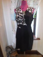 Beautiful All Saints Azure Chase Dress Black Size 14 BNWT