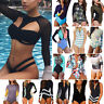Women Long Sleeve Padded One Piece Swimwear Beach Bikini Surfing Rash Guard US S