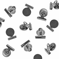 Super Z Outlet Heavy Duty Mini Silver Refrigerator Magnet Hook Clips for Photo D