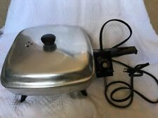 Vintage KENMORE Sears Simpsons Limited Electric Fry Pan Skillet w Lid RetRo EUC