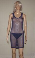 Ladies Heavy Fishnet Dress Navy Blue size UK 10 - 12